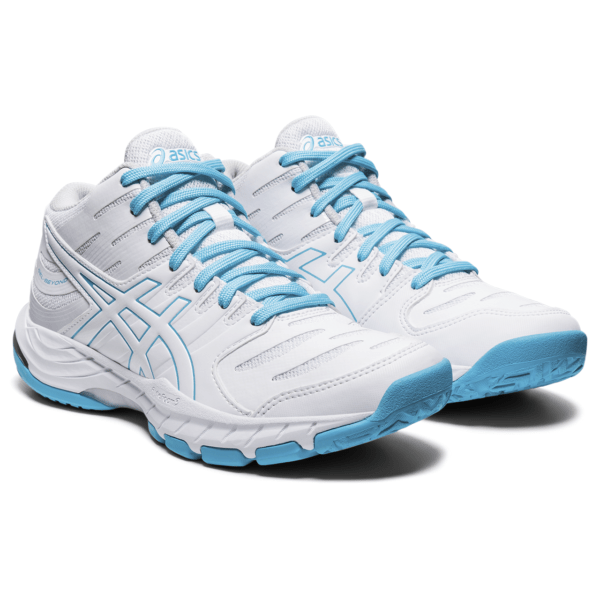 Naiste võrkpallijalats Asics Gel-Beyond MT 6 W (White/Aquarium) Elite 2 MT W