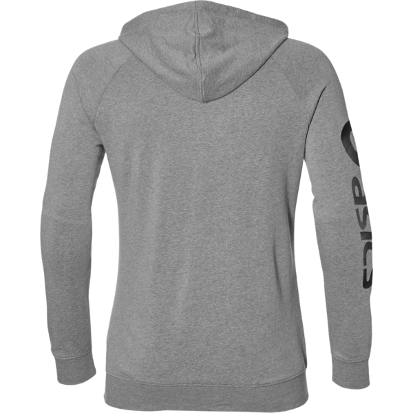Big Asics FZ Hoodie M (Grey Heather/Dark Grey)