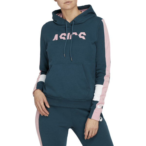 Asics ColorBlock OTH Hoody W 2020 (Magnetic Blue/Ginger Peach)