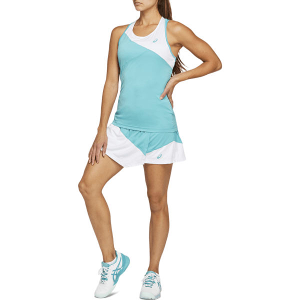 Asics Club W Skort (2020) (Techno Cyan/Brilliant White)
