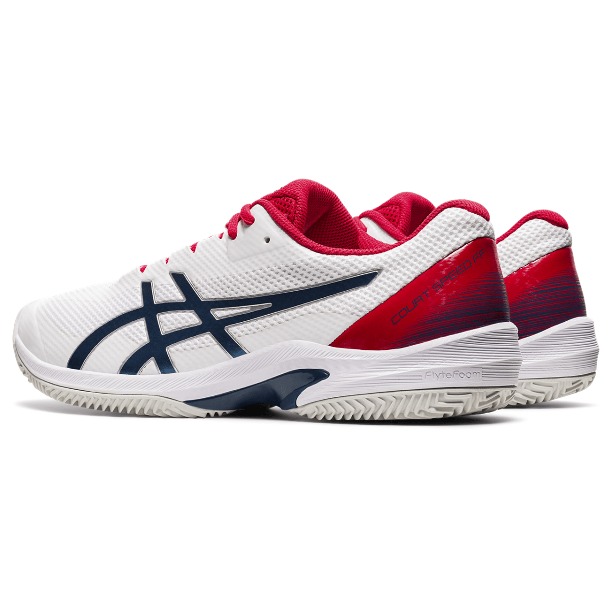 Meeste tennisejalats Asics Court Speed FF CLAY M 2021 (White/Mako Blue)