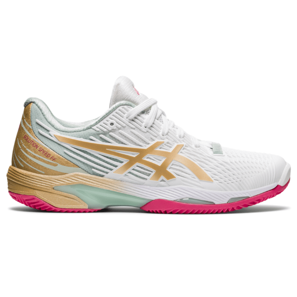 Naiste tennisejalats Asics Solution Speed FF 2 Clay L.E. W 2021 (White/Champagne)