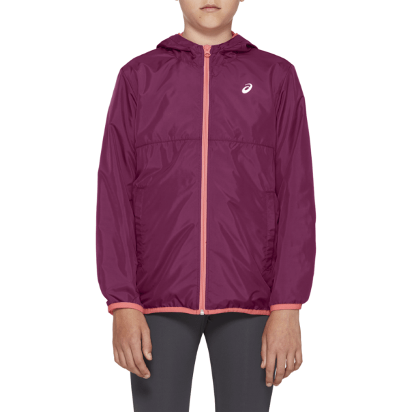 Asics U Wind Jacket GS (Dried Berry) laste tuulejakk