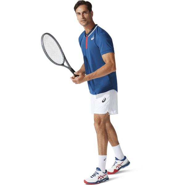 meeste tennisesärk Asics Match M Polo Shirt 2021 (Mako Blue)
