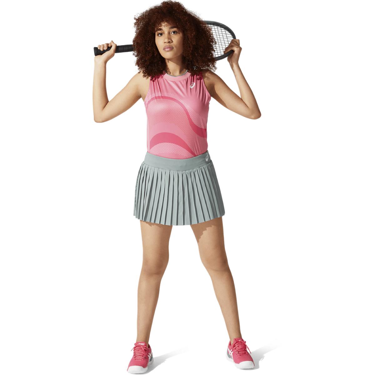 Kiiresti kuivavast materjalist naiste tenniseseelik Asics Match W Pleats Skort 2021 (Slate Grey)